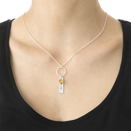 Engraved Bar Necklace for Mothers - 2