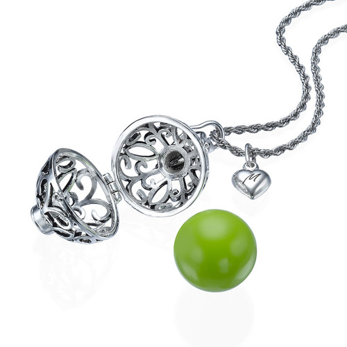 Engraved Charm Harmony Ball Necklace - 1