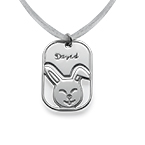 Engraved Children's Necklace with Bunny