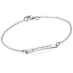 Engraved Coordinates Bracelet in Silver