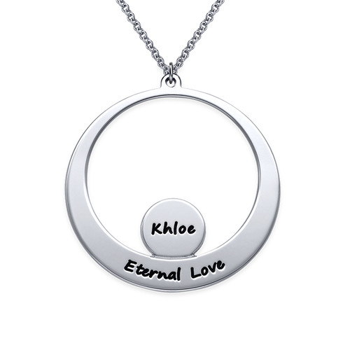 Engraved Family Necklace for Mom - 1