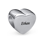 Engraved Heart Bead