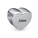 Engraved Heart Bead