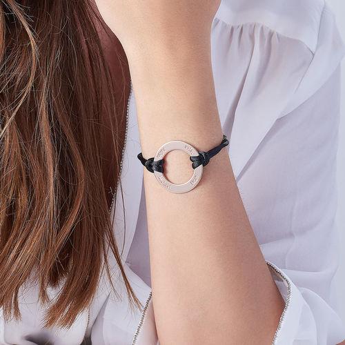 Engraved Infinity Circle Bracelet in Rose Gold Plating - 2