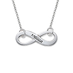 Engraved Infinity Necklace