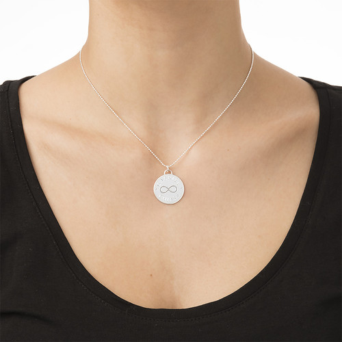 Engraved Infinity Symbol Necklace - 1