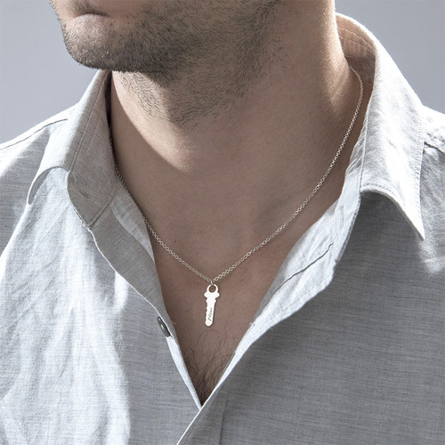 Engraved Key to My Heart Necklace - 4