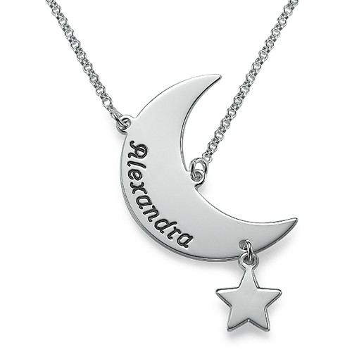 Engraved Moon Necklace