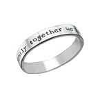 Engraved Name Ring - Hand Stamped Style