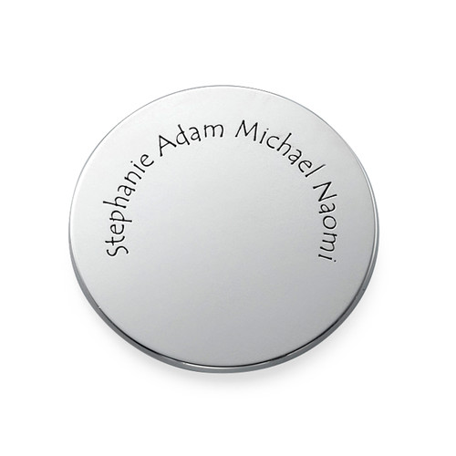Engraved Names Coin in Sterling Silver