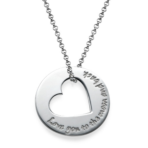 Engraved Necklace with Heart Cut Out