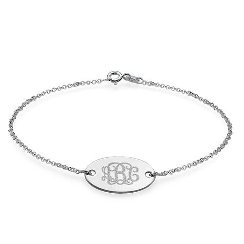 Engraved Oval Monogram Bracelet - 1