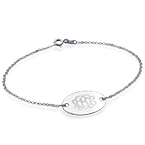 Engraved Oval Monogram Bracelet