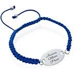 Engraved Oval Tag Bracelet - Shamballa Style