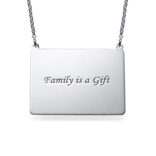 Engraved Photo Necklace - Rectangular Shaped - 1