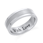 Engraved Stainless Steel Ring for Men