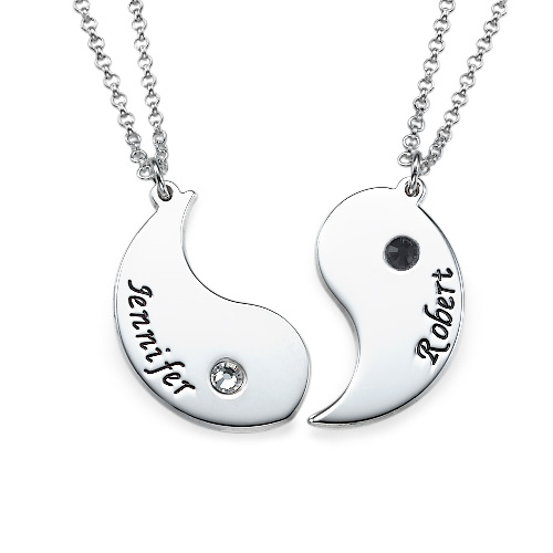 Engraved Yin Yang Necklace For Couples Mynamenecklace