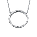 Eternity Circle Necklace in Silver & Cubic Zirconia