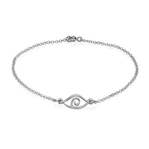 Evil Eye Bracelet in Sterling Silver - 1
