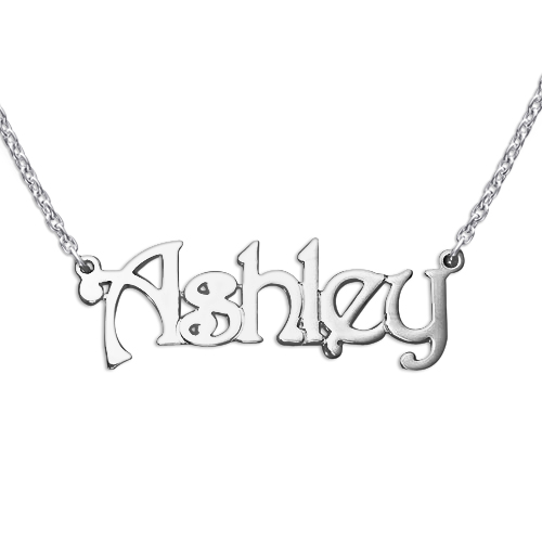 Extra Strength Silver Name Necklace - Rollo Chain