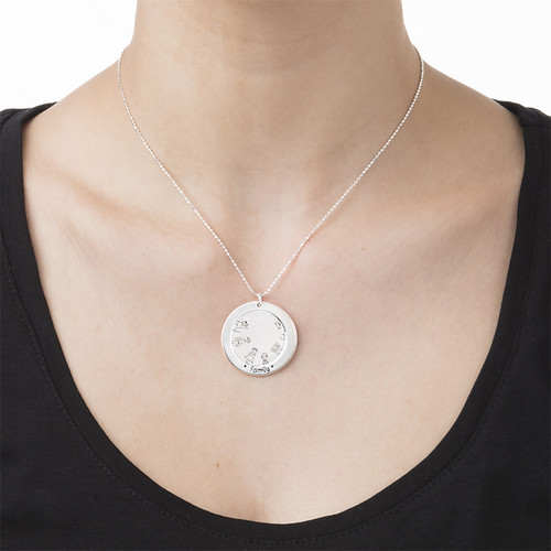 Family Necklace in Silver - 2