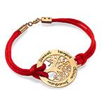 Family Tree Bracelet in 18k Gold Plating