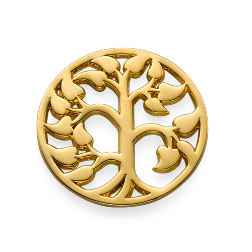 Family Tree Coin in Gold Plating