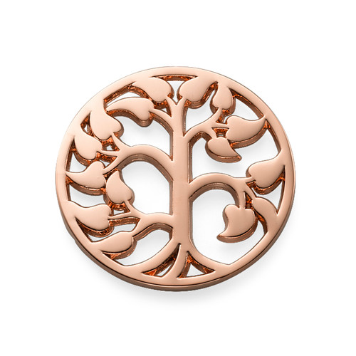 Family Tree Coin in Rose Gold Plating