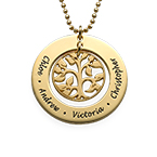 Family Tree Necklace in 18k Gold Plating