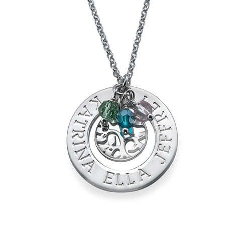 Family Tree of Life Necklace in Sterling Silver