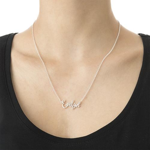 Signature Fancy Script Name Necklace - 2