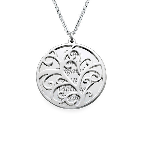 Filigree Family Tree Necklace - 1