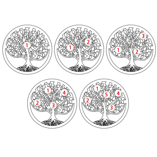 Filigree Family Tree Birthstone Necklace in Silver - 3