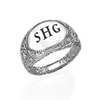Filigree Signet Ring in Silver