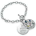 Filigree Tree of Life Bracelet with Birthstones