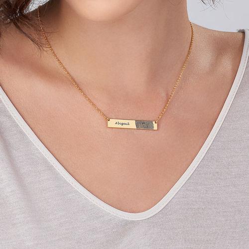 Fingerprint Bar Necklace with 18K Gold plating - 2