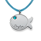 Fish Necklace in Sterling Silver