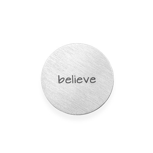 Floating Charm Plate - Engraved Silver Plated Disc