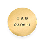Floating Locket Plate -  Engraved Gold Plated Disc