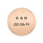 Floating Locket Plate -  Engraved Disc with Initials