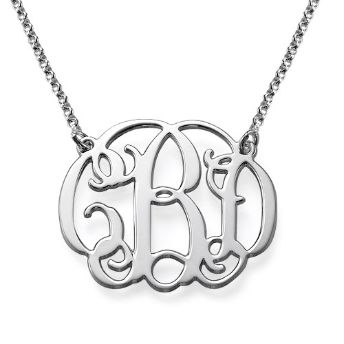 For Him and Her: Monogram Cufflinks + Monogram Necklace - 2