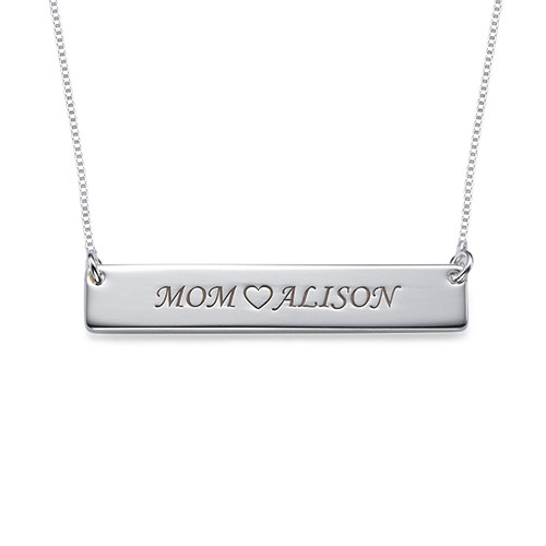 For Moms & Daughters: Engraved Nameplate Necklace Set - 1