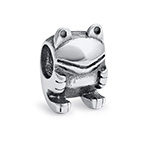 Frog Silver Bead