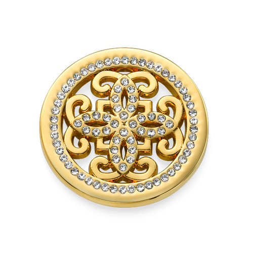 Gold Plated Arabesque Coin