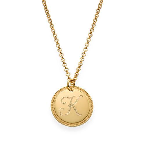 ddd4942ddbaeb Gold Plated Circle Initial Necklace