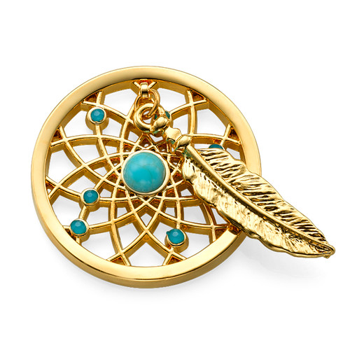 Gold Plated Dreamcatcher Coin
