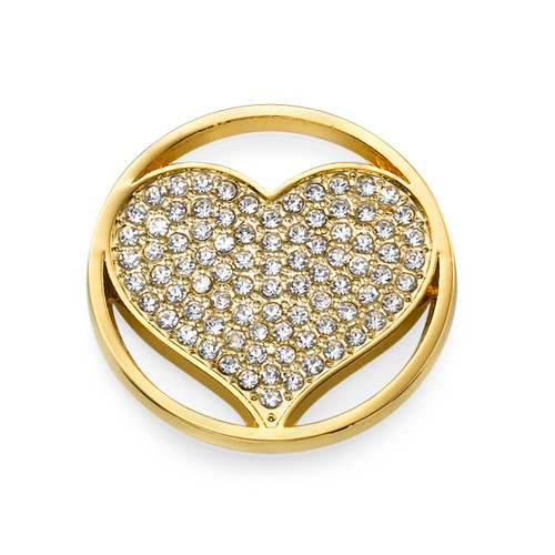 Gold Plated Heart Coin