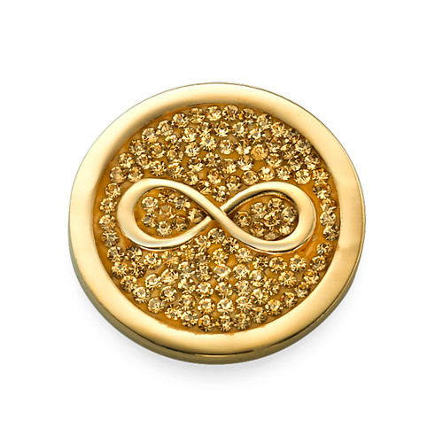 Gold Plated Infinity Coin