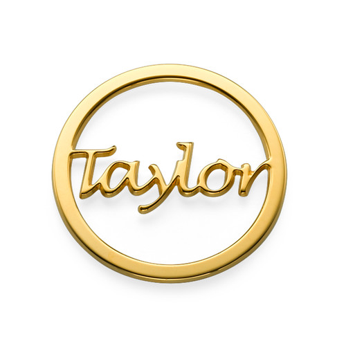 Gold Plated Name Coin - Cut Out Design
