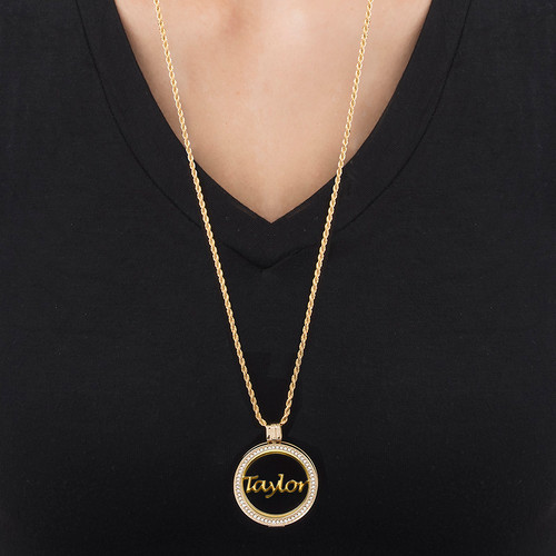 Gold Plated Name Coin - Cut Out Design - 1